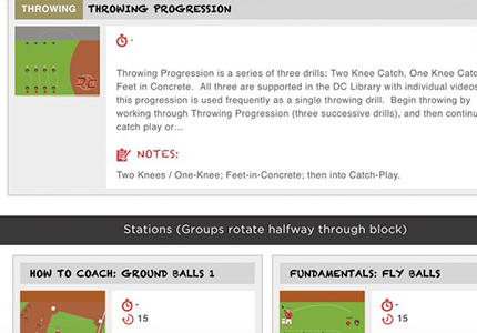 DC Practice Plan Screen Image